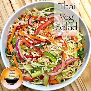 Veg Thai Salad/Vegetable Salad/Healthy vegetable salad/Thai Style vegetable salad/Salad recipe
