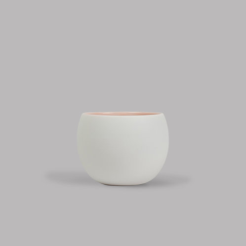 round cup (white and pink)