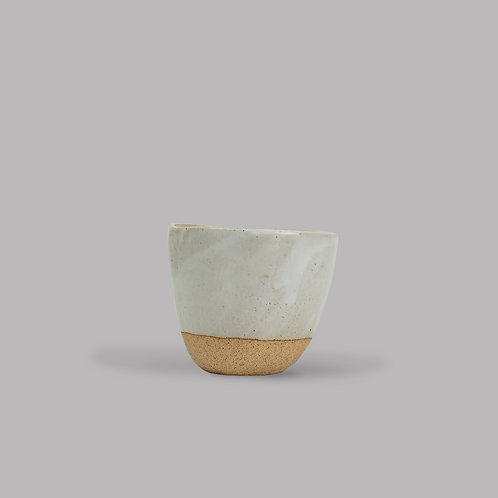 lopsided cup (white & bisque)