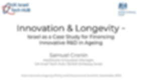 Innovation & Ageing -  Mechanisms for Fi