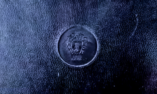 Versace Briefcase Back Logo