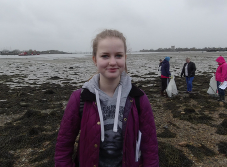 Well done Tilly for organising your first beach clean!