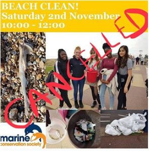 2 November clean - cancelled!