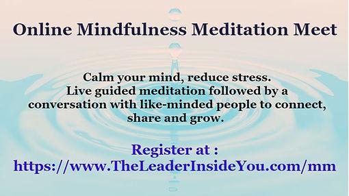 Ravi Rade Live Online Mindfulness Meet