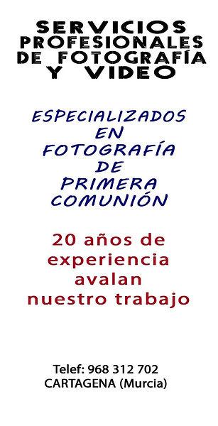 Fotos estudio comunión en Cartagena