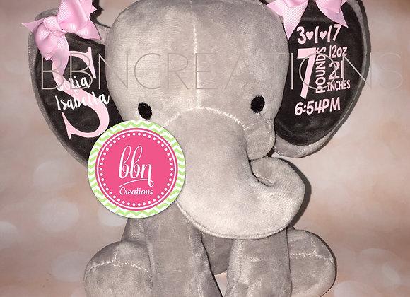 Birth Announcement Baby Elephant