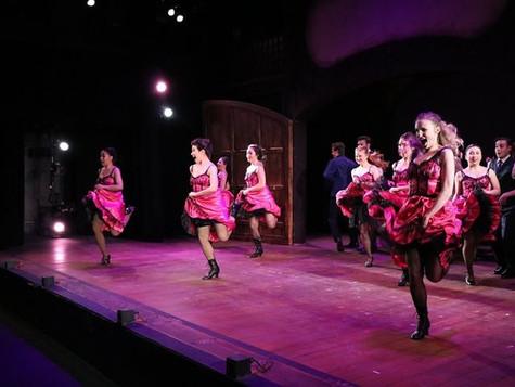 Ariel Triunfo, far left, as Can-Can Dancer