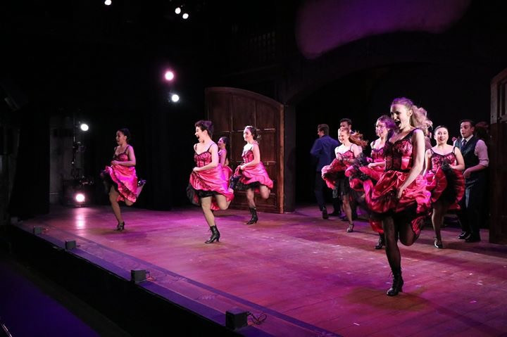 Ariel Triunfo, far left, as Can-Can Dancer