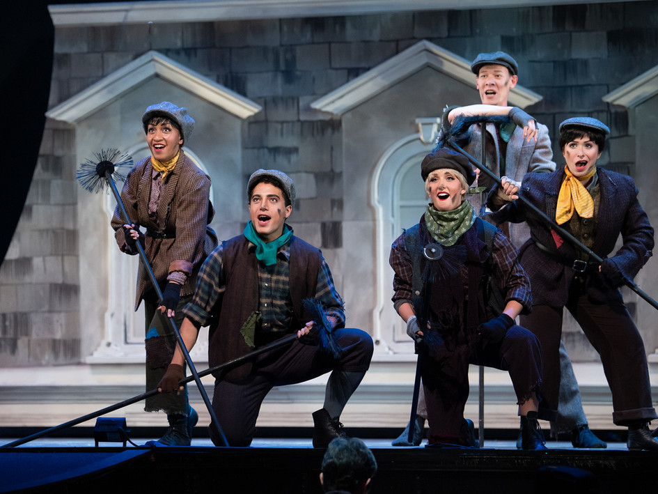 Ariel Etana Triunfo, far left, as Chimney Sweep