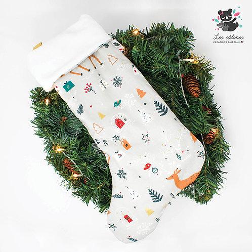 Chaussette de Noël Biche