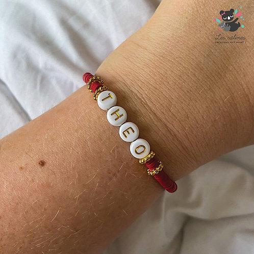 Bracelet Prénom - Lettres dorées