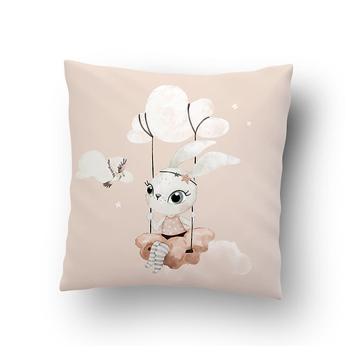 Coussin Sweet Bunny - Pêche