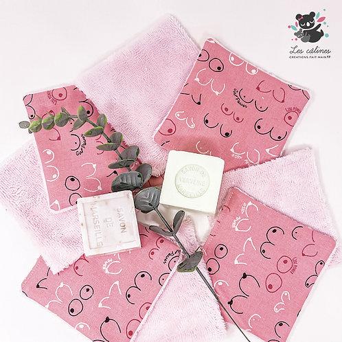 Lingettes solidaires - Le ruban rose