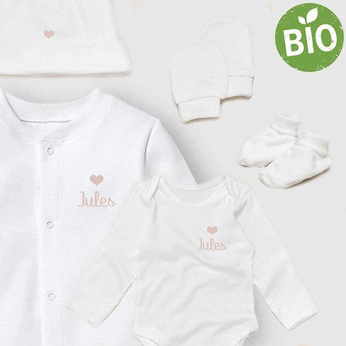 Kit de naissance complet en coton bio