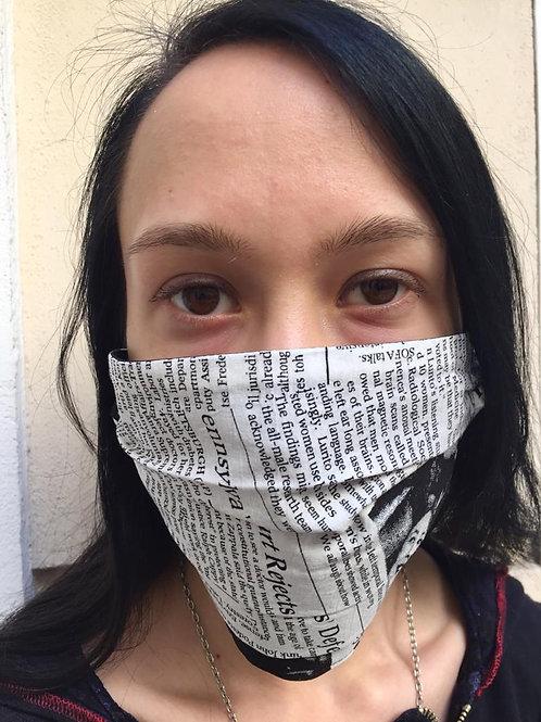 Masken in Newspaperprint