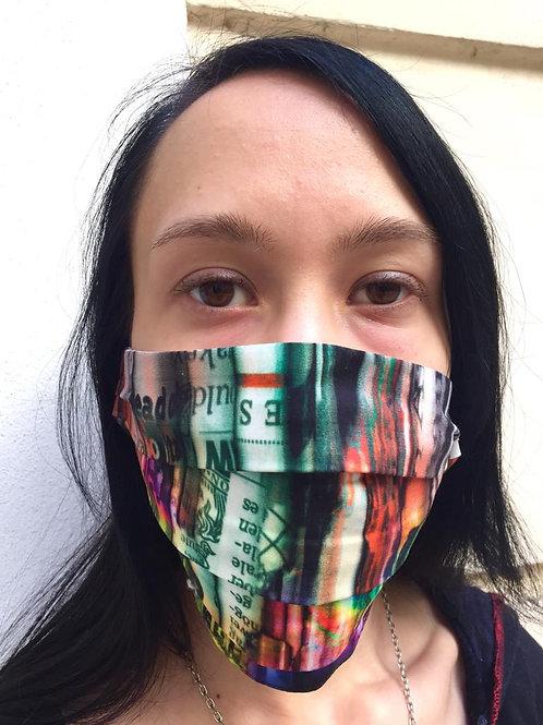 Masken im originellen Designerprint