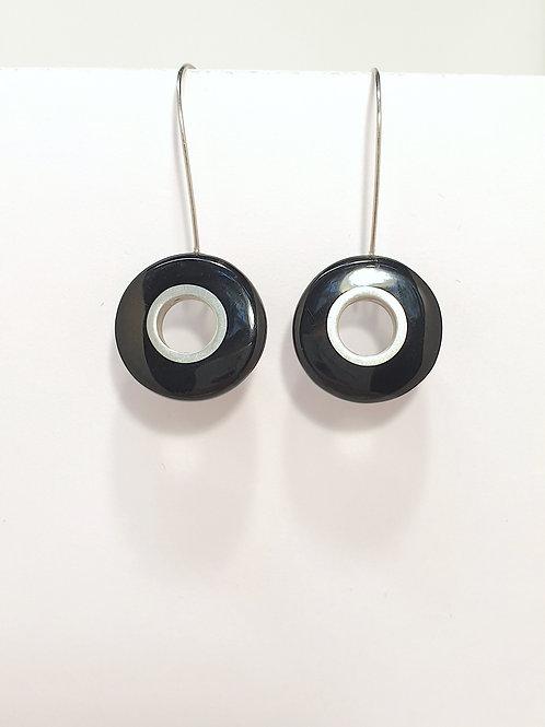 Pop Art Ohrringe schwarz/Weiß