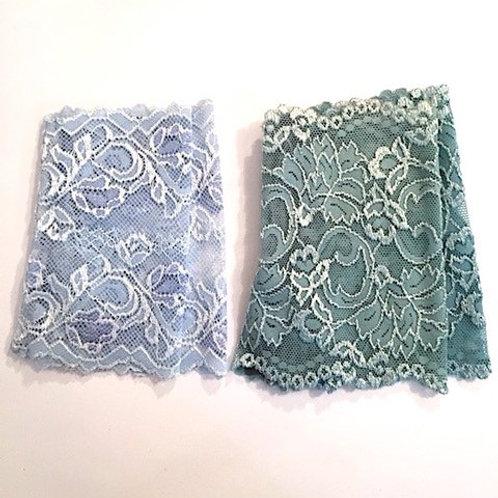 Spitzenstulpen Eisblau/Mint