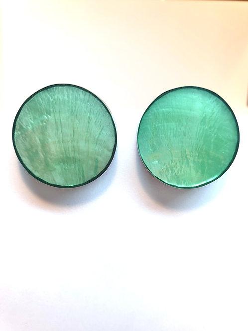 Pop Art Ohrclipse in light green