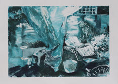 Home I, Monotype, Ink on paper, 41x29cm.