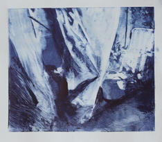 Breeze I, Monotype, Ink on Paper, 29x25c