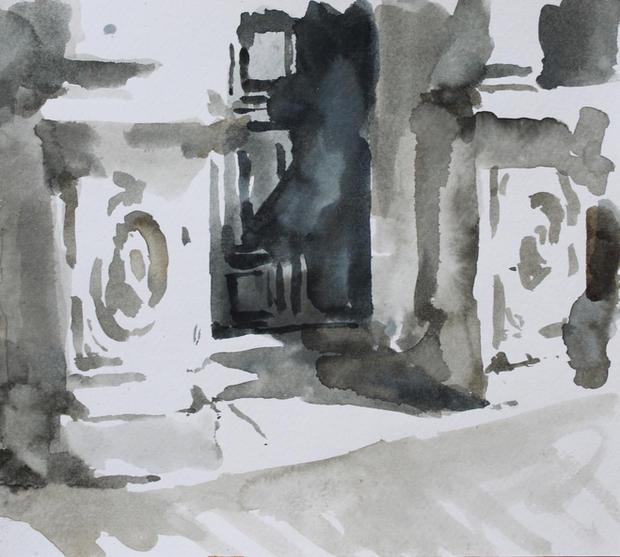 La Chiesa, Venice, 21x29cm, Ink on paper
