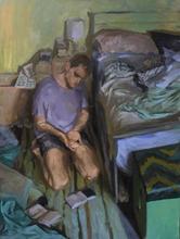 Ben,Praying, 80x100cm, Oil on linen