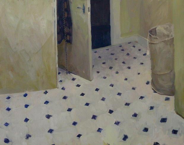Floor, 76x84cm, Oil on linen