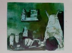 House II, Monotype, Ink on Paper, 29x25c