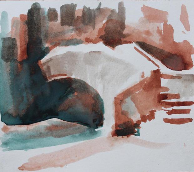 La Ponte, Venice, 21x29cm, Ink on Paper