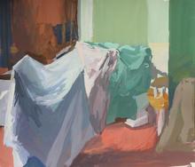 Laundry II, 32x28cm, Goache on paper