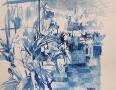 Mare Street Market, 30x40cm, Ink on pape