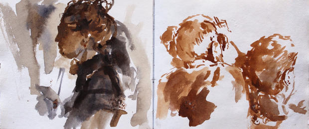 Sketchbook Pignano, People