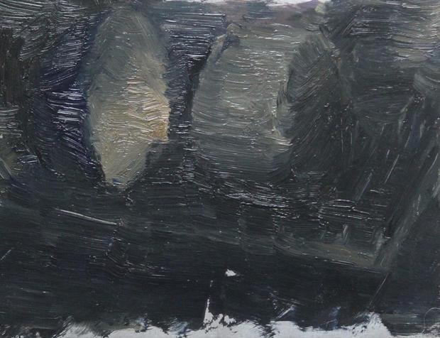 Pans, 20x25cm, Oil on Aluminium