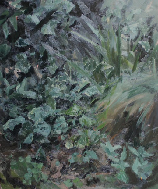 Garden, Kelly's Flat, 80x100cm, Oil on l