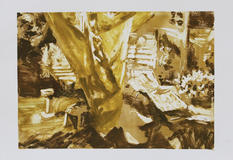 Home III, Monotype, Ink on Paper, 41x29c