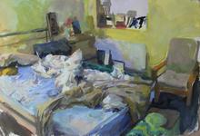 Yellow Room I, 70x100cm, Goache on paper