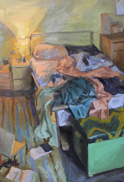 Bed II, 74x108cm, Oil on linen