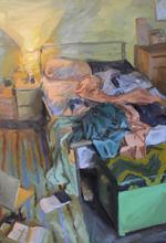 Bed II, 74x108cm, Oil on linen