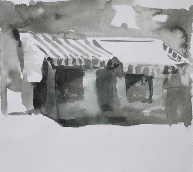 La Tenda, 21x29cm, Ink on paper