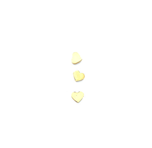 Stainless Steel Heart Studs