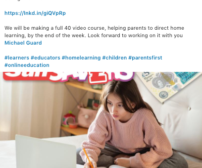 Leon launches the Guide 'Free Streaming School' and 'Home-Learning' course during lockdown.