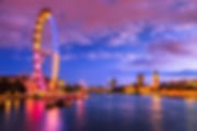 London at twilight. London eye, County H