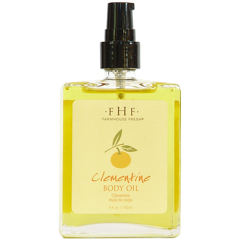 Clementine Body Oil4 oz. Glass Bottle with Pump