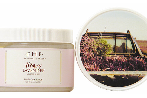 Honey-Lavender Fine Grain Salt Scrub12 oz. plastic