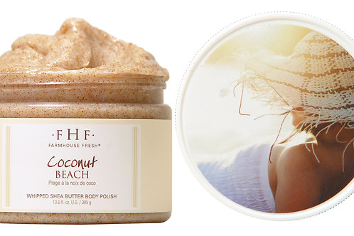 Coconut Beach Body Scrub12 oz. plastic jar
