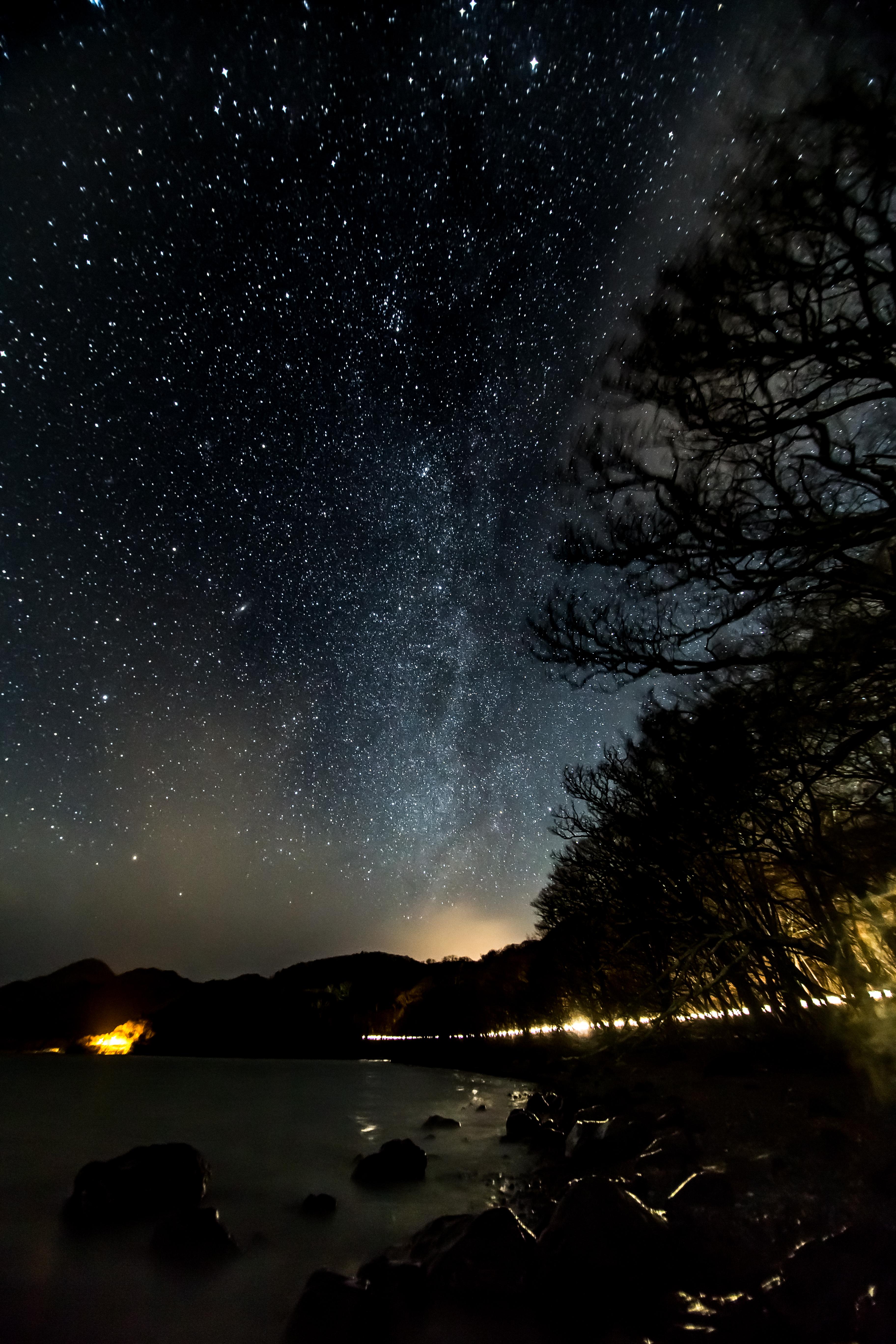 senjogahara japan mountain winter 戦場ヶ原 男体山 冬 山 日光 星空 星 夜景 stars milky way 天の川 lake 中禅寺湖