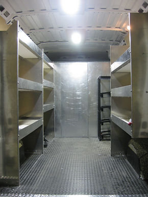 An Example Of The Versatility A Van Can Have Utility Work Is Simplified With These Low Profile Shelves