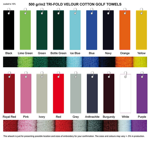 GOLF TOWELS COLOURS.JPG