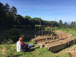 permaculture buttes chambres d'hôtes permaculture groupe collectif domaine des possibles habitat participatif ecolieu clermont ferrand orcines ternant puy de dome auvergne
